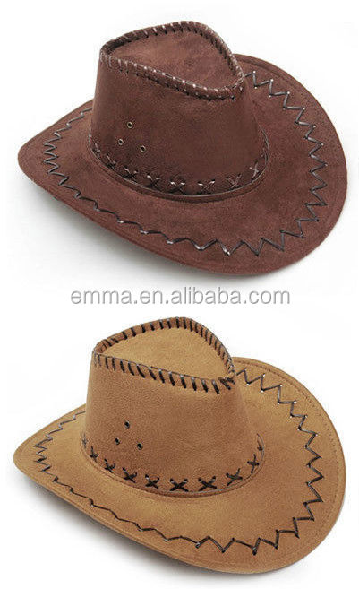 430b3e90 Mexican Suede Leather Cowboy Hat With Cross Stitching Ht12181 - Buy Leather  Cowboy Hat,Cowboy Hat,Hat Product on Alibaba.com