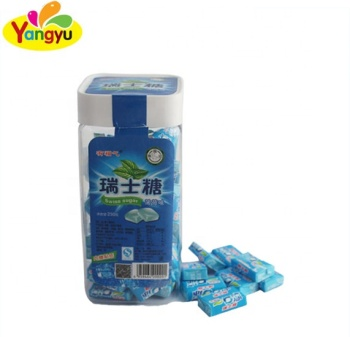 Mint Flavour Swiss Sugar Günstige Milk Chewy Soft Candy mit Toy Sticker