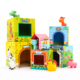 custom children Educational Model game happy animals Paper cardboard Stacking Block Cubes toy Set for kids