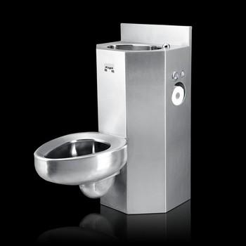 Europe American Standard Stainless Steel Prison Toilet