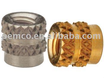 Stainless Steel Or Brass Molded-in Thru-threaded Insert For ...