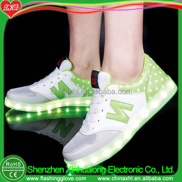 2018 styleTeenager light Popular New up unisex shoes LED wq8w5r