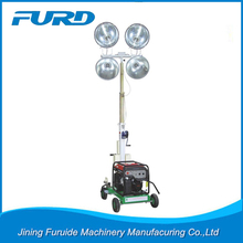 Mobile light tower with metal halide lamp and Pneumatic tower
