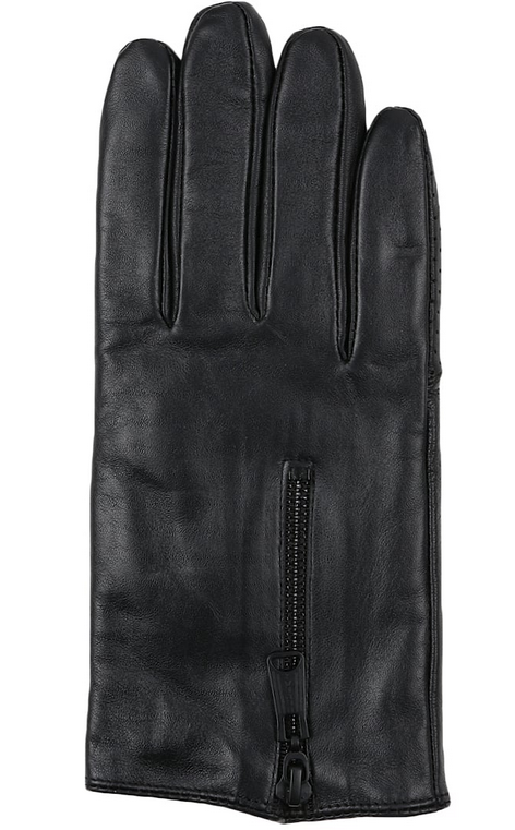 fashion ladies driving leather gloves with zipper
