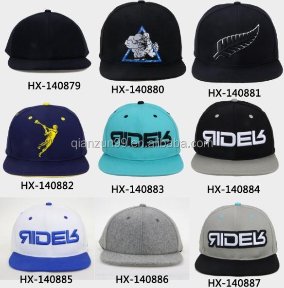 Custom Embroidery Blank Brown Snapback Hat No Brim Strapback Caps ...