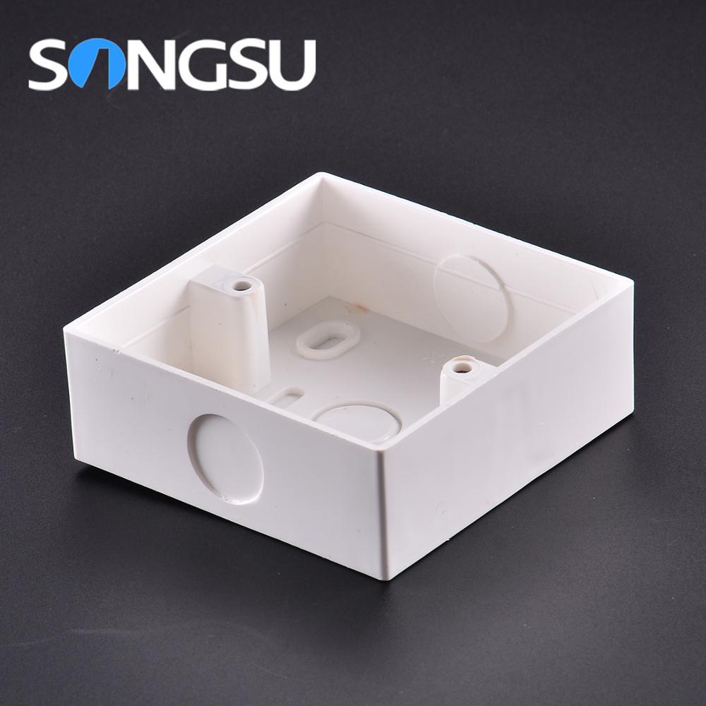 CE interruptor Durável 3x3 3x6 gabinete caixa de plástico pvc caixa de junção elétrica