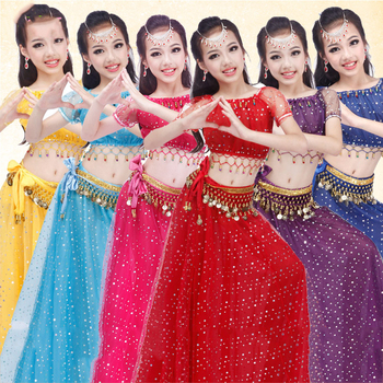 Oriental Dance Costumes Sexy Indian Dress Belly Dance Costumes Girls Kids  Children Bollywood Clothes Performance Wear Dn1620 , Buy Belly Dance