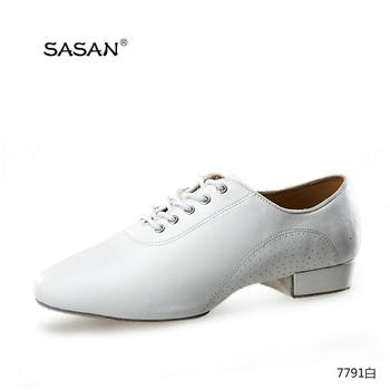 Low Heel Leather Men Dance Shoes 7791