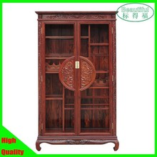 Traditional Chinese style Wooden wine cabinet,retro cellarette