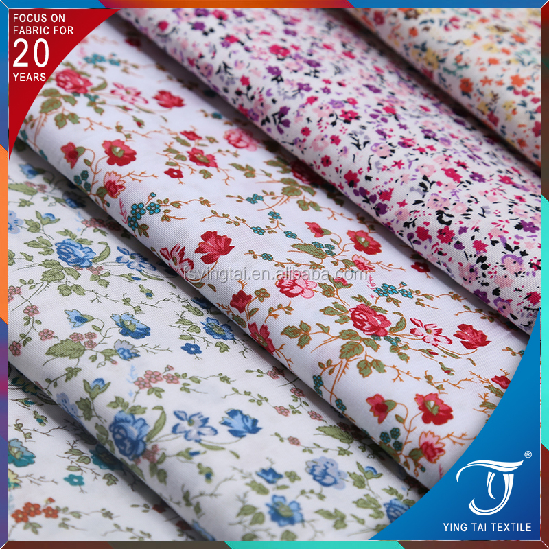 Hot sale floral printed cotton <strong>fabric</strong> 100% poplin <strong>fabric</strong> for dress