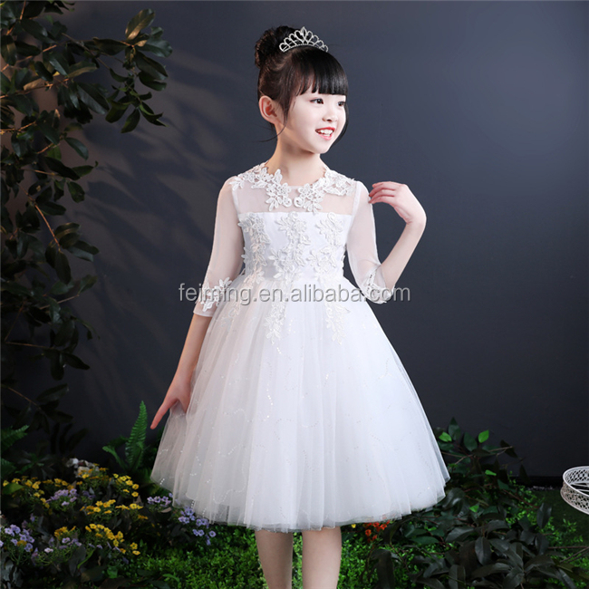 Summer children wear fashion girls party dress wholesale hot sale kids clothing
