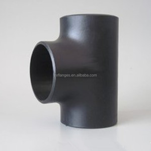carbon steel tube ASTM A234 WPB butt welded pipe fitting high quality equal tee