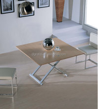 2016 Simple classic dinning table is made by E melamine MDF for dining room furniture