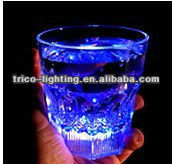 led beer drinking glasses ,custom logo accept