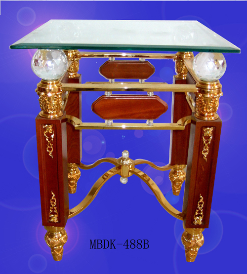 New products golden modern glass teapoy crystal table teapoy for homr villa