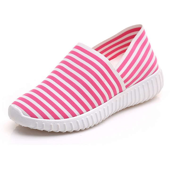 Womens Casual boat Shoes Cotton Canvas Slip on Round Toe Espadrilles Flat Fashion Sneaker