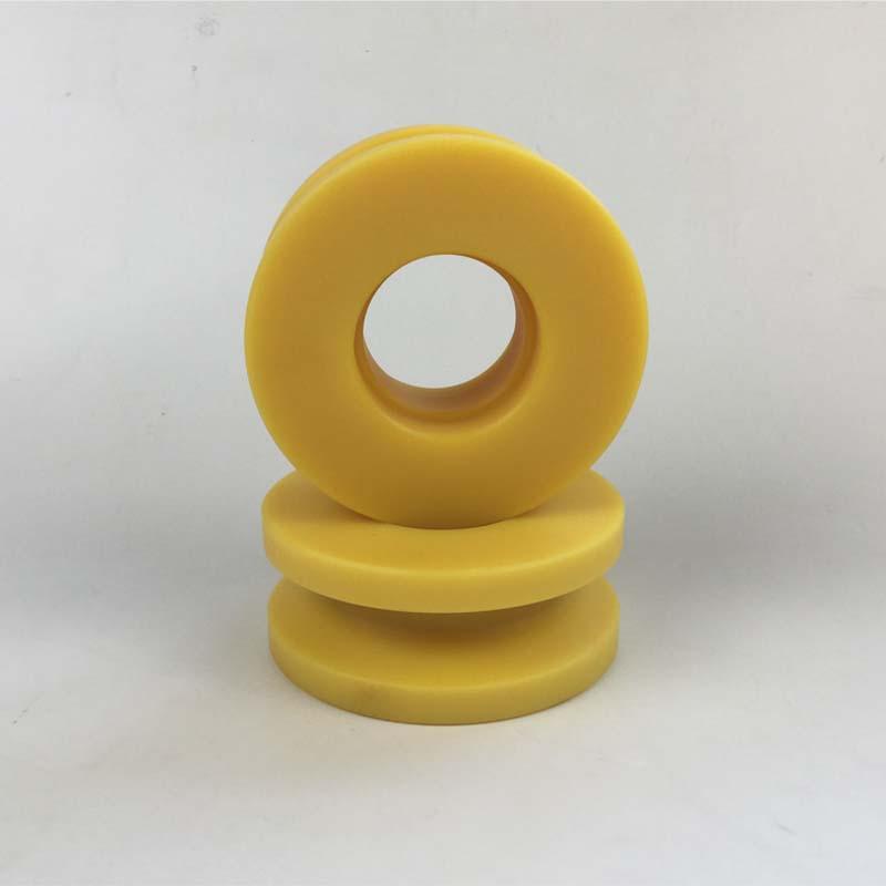تخصيص هندسة البلاستيك PA66 النايلون HDPE بكرة sheave كبيرة صغيرة
