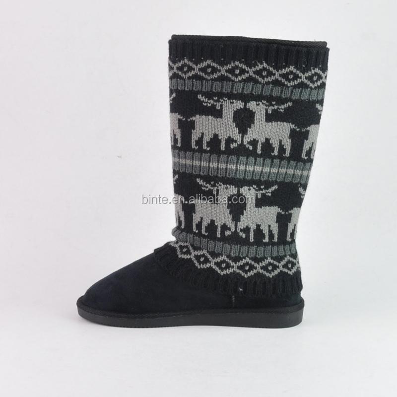 Women's Sweater Footwear - Winter Flat Knit Removable Detachable ...