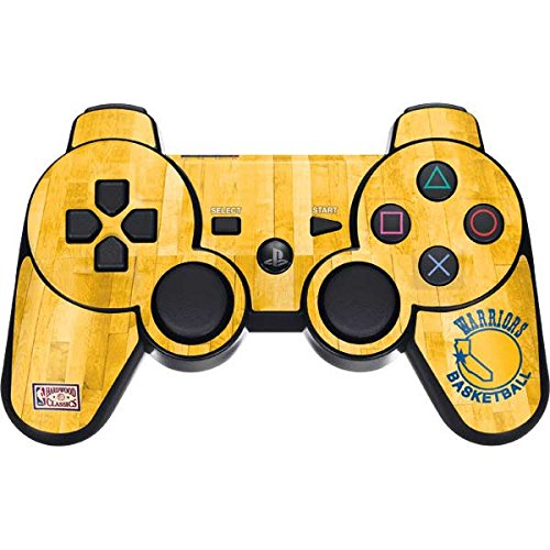 NBA Golden State Warriors PS3 Dual Shock wireless controller Skin - Golden State Warriors Hardwood Classics Vinyl Decal Skin For Your PS3 Dual Shock wireless controller