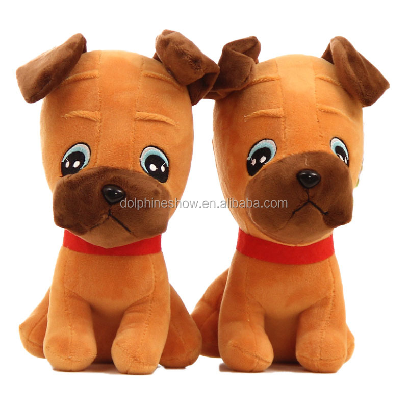 Custom Standing Plush Dog Cute Guard Puppy Dog Toy Wholesale China Manufacture Toys