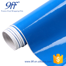 Fashion stylish color changing Gloss Blue Vinyl Wrap With Bubble Free