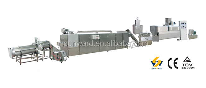 Professional hot selling products puffed corn chips snacks food extruder machinery