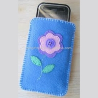 2017 hot sale fashion wholesale high quality handmade felt mobile phone flower case made in China - OEM & ODM welcomed