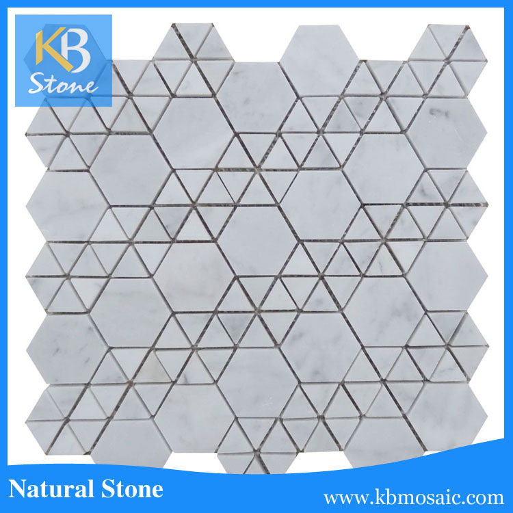 Football patern marble mosaic tile for wall