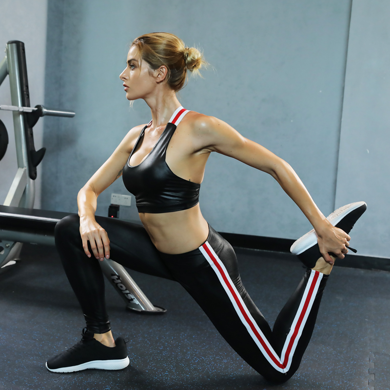 Breathable-Sheeny-Leather-Polyester-Women-Sport-Workout