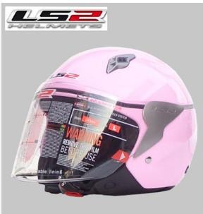 Подлинные LS2 OF559 мотоциклетный шлем половина шлем мужской и женский модели розовый sml XL XXL