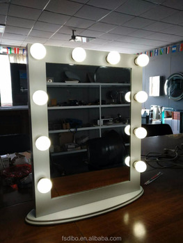 Led Bulb Lighted Hollywood Mirror For Makeup Buy Mirror With Light