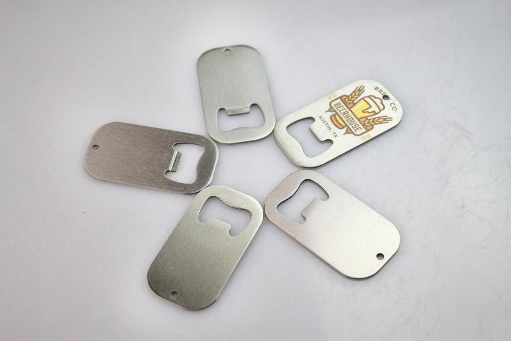 New Arrival Sublimation Coated Design Your Own Logo Heat Transfer Stainless Steel Bottle Opener Bottle Shape