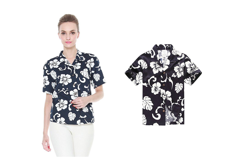 6db0f0f466b1 Hawaii Hangover Matching Mother Son Hawaiian Luau Women Shirt Boy Shirt  Navy Hibiscus