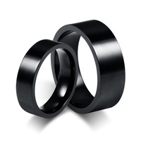 2018 Hottest High-end Black Color Ring Classic Engagement Jewelry Stainless Steel Brands