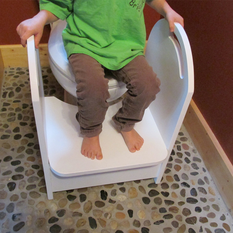 Wood Potty Step Stool Kids Toilet Step Stool With Handrail