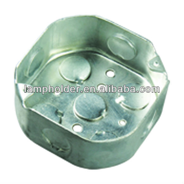 "4""Octagonal Galvanized steel outlet box with cable clamp"