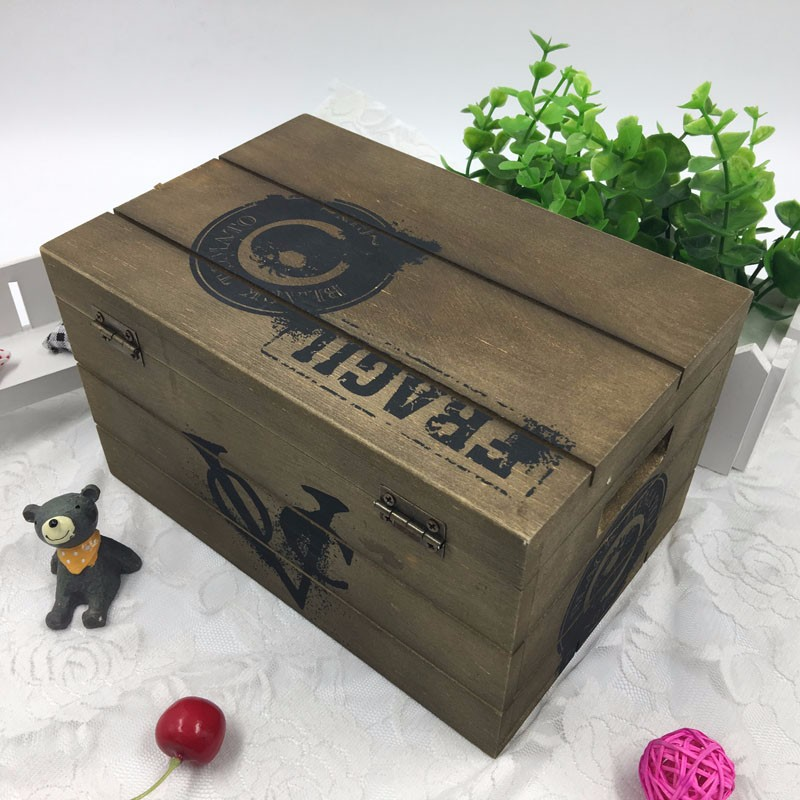 Unique Wooden Crate Gift Boxes For Vegetables And Fruits