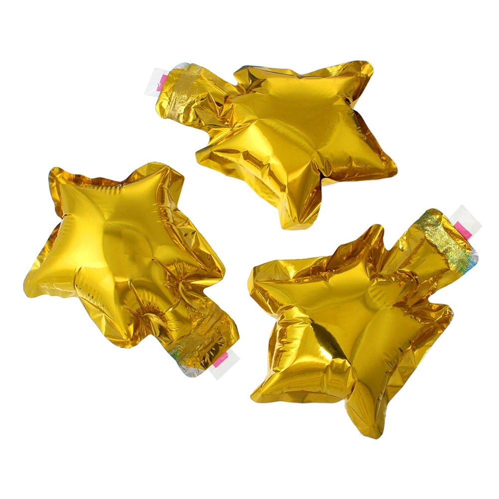 Supplies Party Decorations Star Golden Foil Frozen Balloon