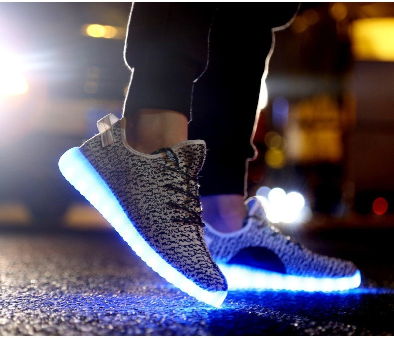 ecf487089 ... discount code for led 7 colors light shoes for adult men flat casual  shoes 2016 new