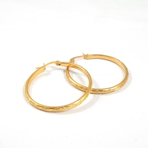 Best Products For Import Prices Italian Gold Latest Earing Design Round Hoop Earrings
