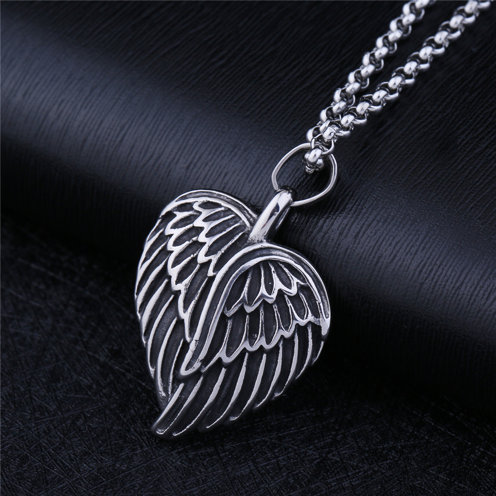 NS 001 Yiwu Huilin Jewelry Hip Hop Eagle Hawk Head Pendant Necklace For Men High quality Stainless Steel Male Friendship Gift