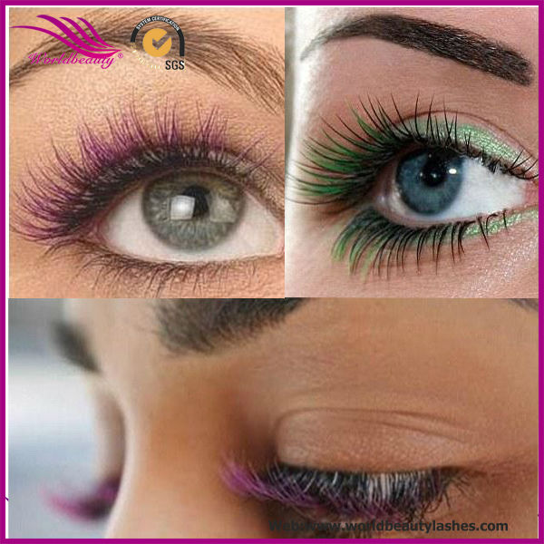 Two tone color ombre color individual mink eyelash extension, View ...