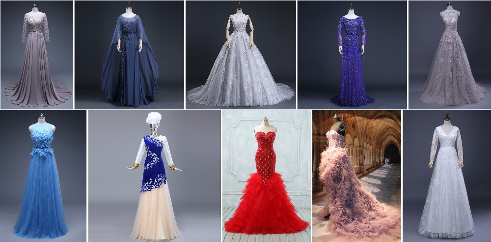 c17b93e5e PS-03 Lace Appliqued Bodice Formal Party Gown with Spaghetti Straps Long  Mermaid Prom Dresses
