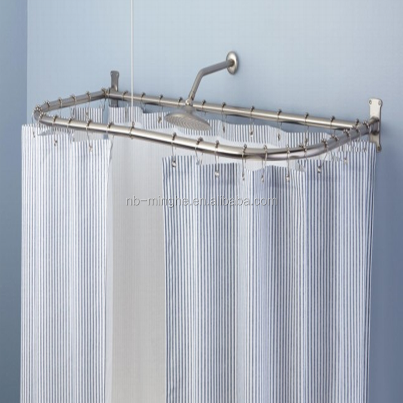 D SHAPED SHOWER CURTAIN ROD