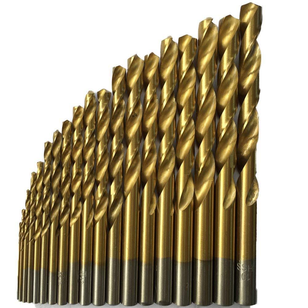 50Pcs Titanium Coated High Speed Steel Drill Bit Set Tool 1/1.5/2/2.5/3mm