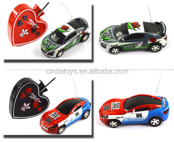 wholesale competition drift car 4 direction poker card shape remote control small car kids mini racing