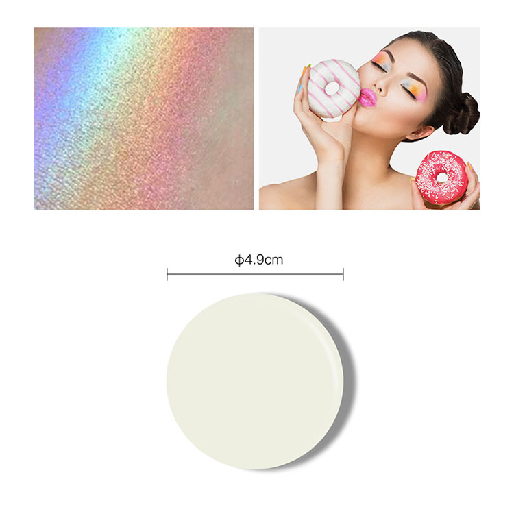 2018 Colorful 6 colors rainbow highlighter make up glitter eye shadow palette with high quality