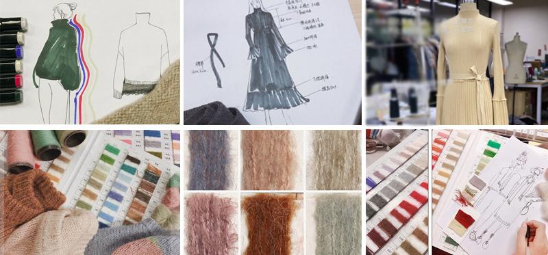 Kleding fabriek groothandel custom OEM vrouwen nieuwe herfst en winter casual pure kleur losse wol breit truien