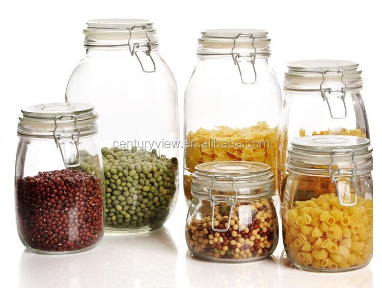 new design clear airtight glass baby food various size jars buy glass baby food jars wholesale. Black Bedroom Furniture Sets. Home Design Ideas