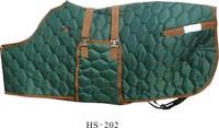 420 Denier shaped hip green diamond nylon stable horse rug